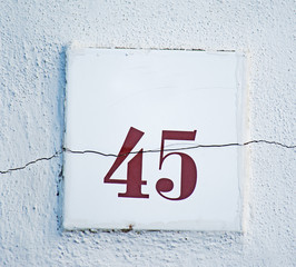 crack on a house number
