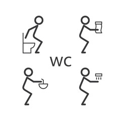 Toilet situation vector icon