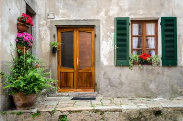 Italy, house door and window