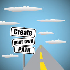 Create your own path