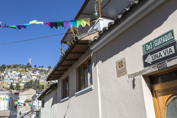 Panecillo hill from Calle de las Churretas