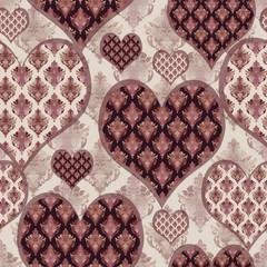 Heart seamless pattern