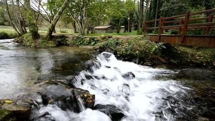 Naturaleza virgen. Cascadas de agua. Ríos y paisajes de Galicia