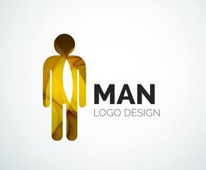 Abstract logo - man icon