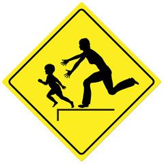 Watch the Children, traffic sign