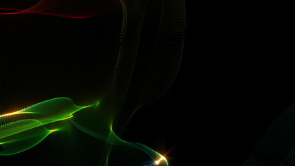 futuristic animation – wave object and light – loop HD
