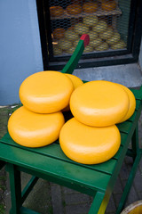 Rounds of Dutch cheese