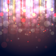 Winter Christmas Blurred Bokeh Background