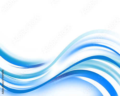 Staande foto Abstract wave Blue waves