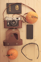 Travel set of things