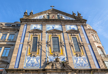 Facade of the Saint Anthony church Congregados in Porto