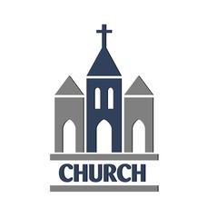 Church logo vector design