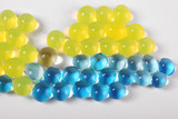 hydrogel yelow blue balls poster