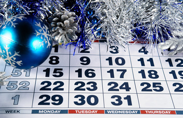 the eve of the new year on the calendar