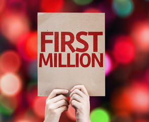 First Million card with colorful background