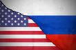 canvas print picture - Bruch zwischen den USA und Russland