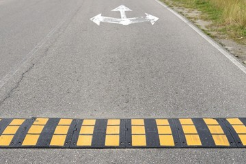 road marking speed bumps