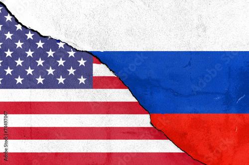 canvas print picture Bruch zwischen den USA und Russland