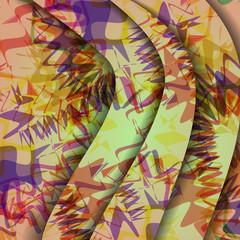 Colorful zigzag background