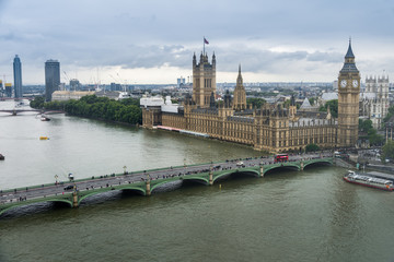 Palace of Westminster - aerial view
