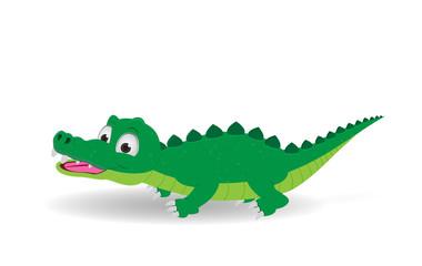 cute crocodile isolated