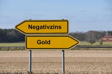 Negativzins, Minuszinsen, Gold, Edelmetall, Wert, Zins, Rendite