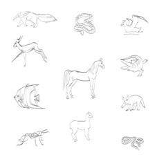 animals vector icons