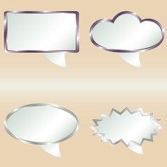 Vector speech bubbles from metal gradient