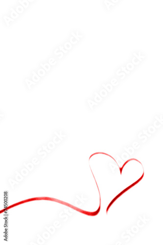 canvas print picture rotes Herzsilhouette -  Banner