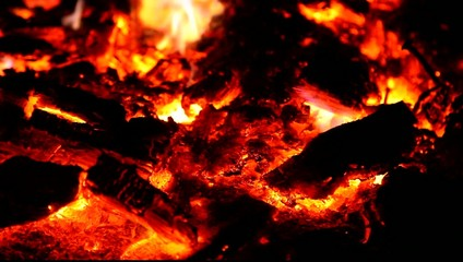 Embers and ashes of mighty big fire