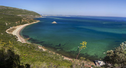 beautiful coastal landscapes of the Arrabida region