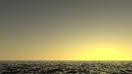 Flug über Meer