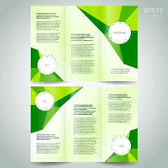 brochure polygonal design template tri-fold abstract polygon