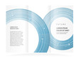 brochure design template future circles technological