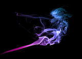 Purple smoke on dark