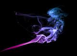 Purple smoke on dark - 74502204