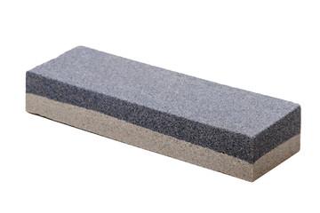 abrasive whetstone isolated on a white background.