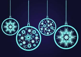 Christmas balls. Snowflake.
