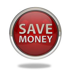 Save money pointer icon on white background