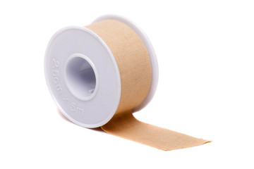 roll of masking tape isolated on a white background.