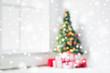 Obrazy na płótnie, fototapety, zdjęcia, fotoobrazy drukowane : room with christmas tree and presents background