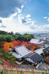 秋の圓光寺の眺め