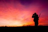 Hunter Glassing in Sunrise