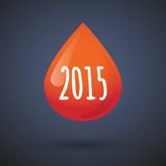 blood drop year 2015 design