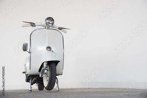 Foto op Canvas Scooter white scooter