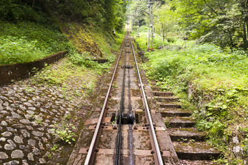 Cable car railways, Koya San, Japan
