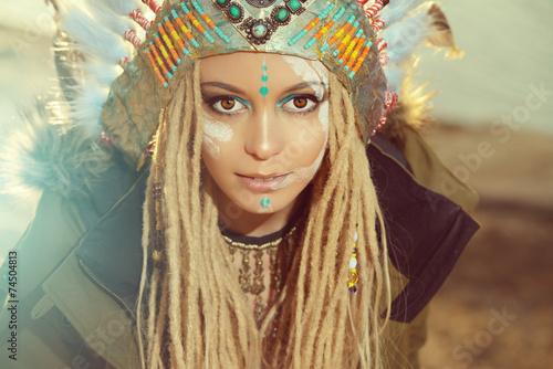 obraz PCV Moda etniczna