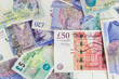 British pounds banknotes background - 74505600