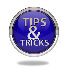Tips & tricks pointer icon on white background