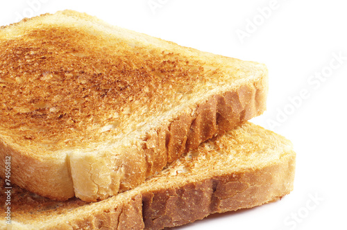 Foto op Plexiglas Brood Two toast bread